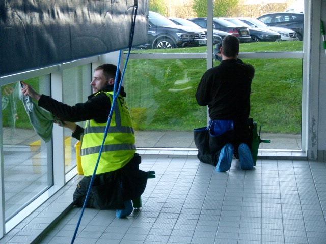 commercial window cleaning swimming pool