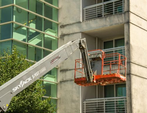 Commercial window cleaning services carried out at Height